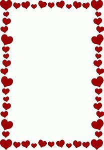 Happy Valentines Day Border Clipart Letters Format