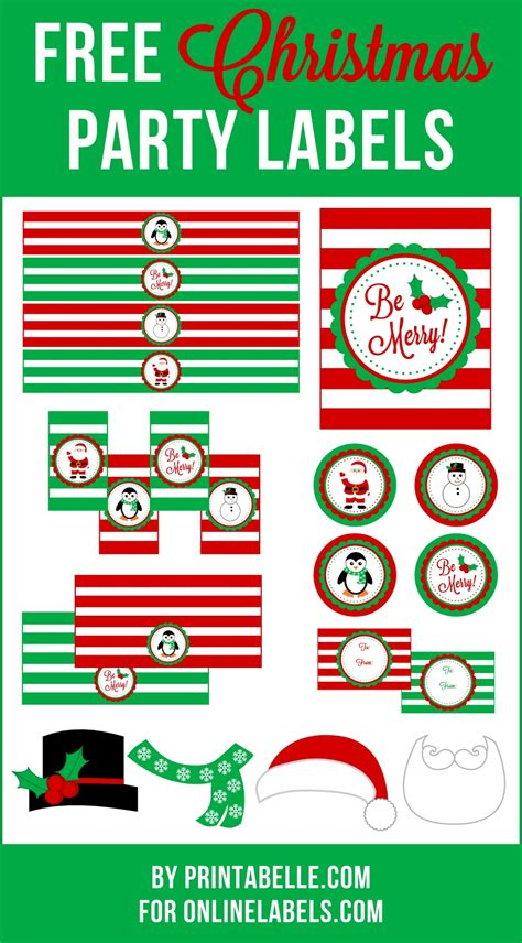 free christmas labels printable themed labels freebie