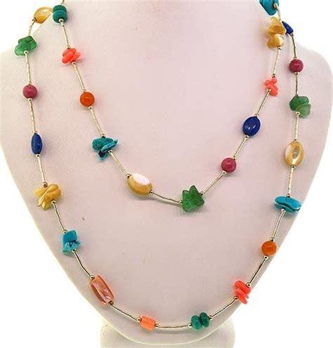 multi gemstone necklace sterling silver multi color gemstone necklace