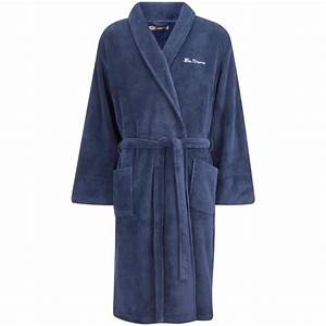 ben sherman men39s soft fleece bath robe dressing gown With robe navy