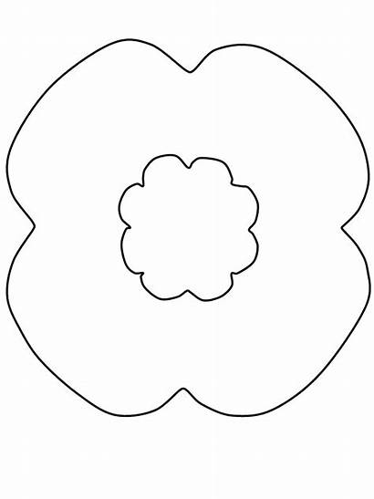 Coloring Pages Veterans Remembrance Poppy Poppies Printable