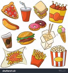 Healthy And Junk Food Clipart - ClipartXtras