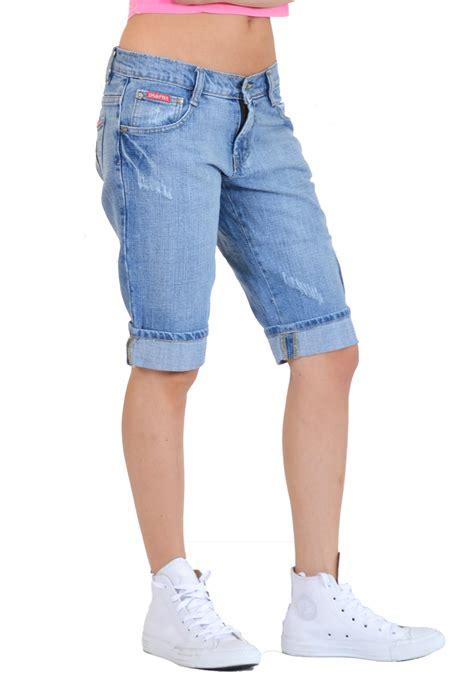 light blue jean shorts new womens light blue faded distressed long denim shorts