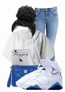 U0026quot;Air Jordan Retro 7 French Blue Outfit !u0026quot; by payyay liked on Polyvore featuring Billabong ...