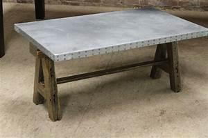 zinc tops with custom base ecustomfinishes With custom coffee table tops