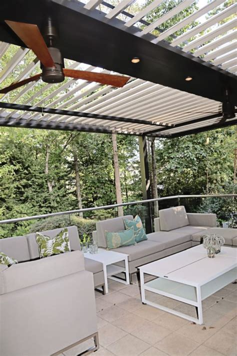 louvered roofs  patio district