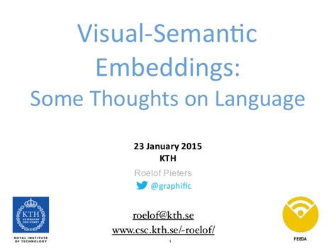 Visualsemantic Embeddings Some Thoughts On Language