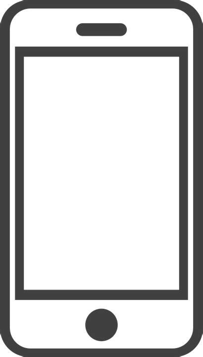 mobile phone icon vector png white imagem vetorial gratis smartphone telefone celular