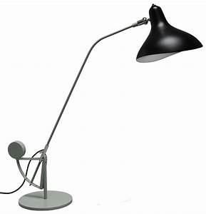 Mantis bs3 table lamp grey green black lampshade by dcw for Bs 3 table lamp