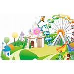 Park Clipart Childrens Cartoon Playground Transparent Children