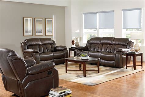 shore living room set shore chocolate brown reclining living room set from