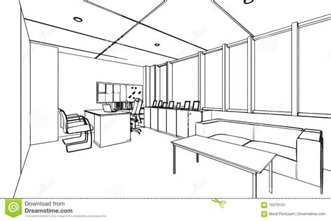 bureau de dessin décrivez la perspective de dessin de croquis d 39 un bureau