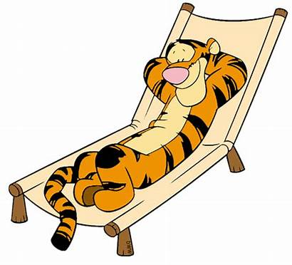 Lounging Clipart Tigger Clip Relaxing Relax Winnie