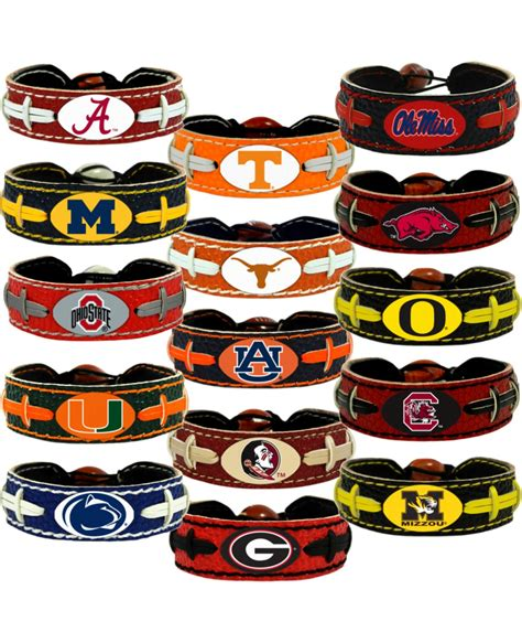 college football colors college football team color bracelet choose your favorite