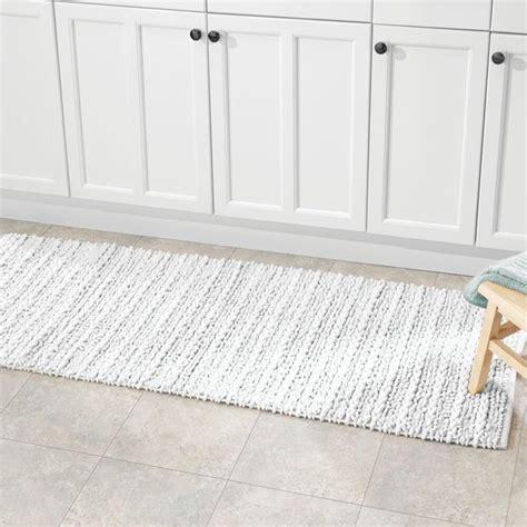 braided rectangular bath mat  long runner