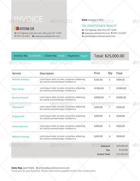 modern invoice templates dascoopinfo