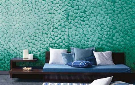 tecnique textured paint  walls interior design