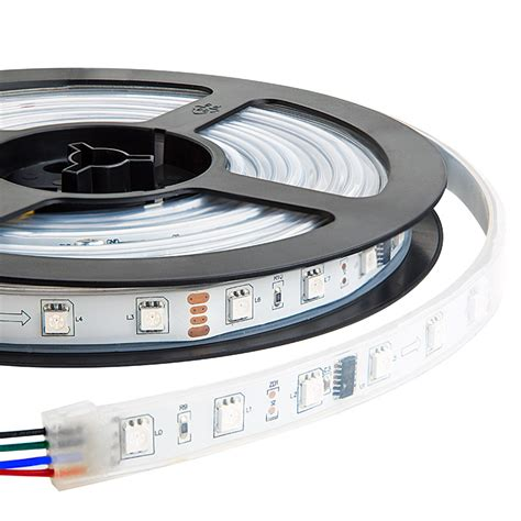 16 ft led light strip waterproof color chasing led light strips with multi color