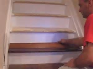 how to install laminate pergo on stairs and molding