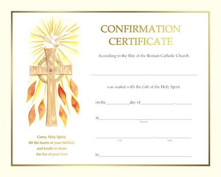 certificate  confirmation spiritual st jude shop