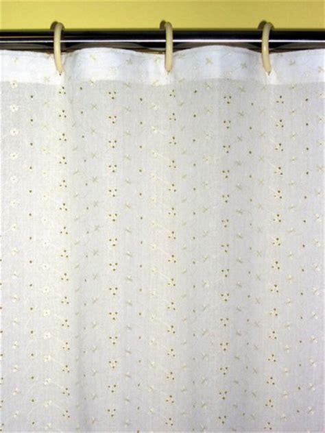 eyelet emroidered shower curtain 494 ey4010