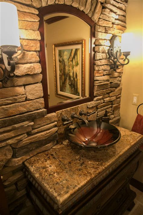 Tuscan Style Bathroom Decor tuscan style traditional bathroom detroit by