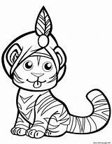 Turban Tigre Malvorlagen Animaux Ausmalen Tigres Tygrys Ausdrucken Drukuj sketch template