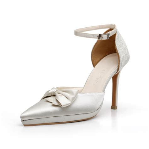 Pointy Satin Rotelli Heels custom made ivory satin high pointy heels satin pointy
