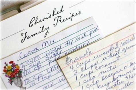 family recipes decorating with recipes neat framed recipe ideas balancing beauty and bedlam