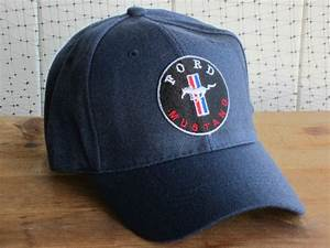 Sell NEW NWT FORD MUSTANG LOGO NAVY BASEBALL GOLF DRIVING HAT CAP LID AUTOMOBILE CAR motorcycle ...