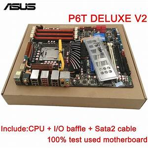 Original Used Desktop Motherboard For Asus P6t Deluxe V2