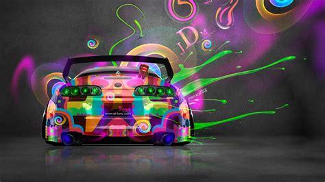 Super Car, Tony Kokhan, Colorful, Toyota Supra, Jdm