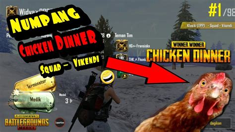 numpang chicken vikendi pubg mobile indonesia youtube