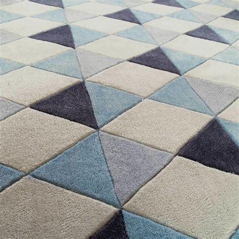 tapis 224 poils courts bleu 140 x 200 cm nordic maisons du