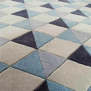 tapis a poils courts bleu 140 x 200 cm nordic maisons du With tapis salon maison du monde