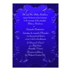 royal blue wedding invitations royal blue wedding invitation 5 quot x 7 quot invitation card zazzle