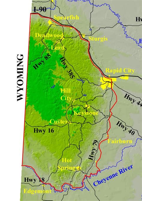 black hills forest fire protection boundary