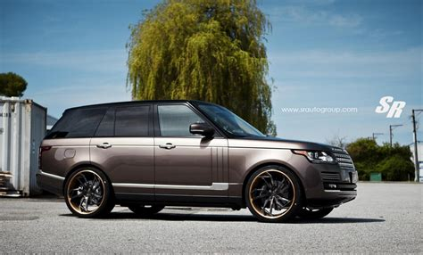 land rover brown eye candy hazelnut brown range rover on pur wheels