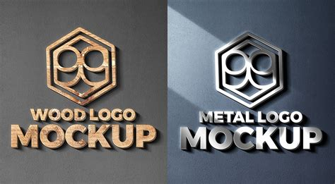 wood  metal cut logo mockups graphicsfuel