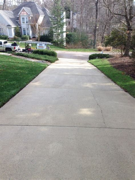 driveway concrete cleaning pressure washing raleigh