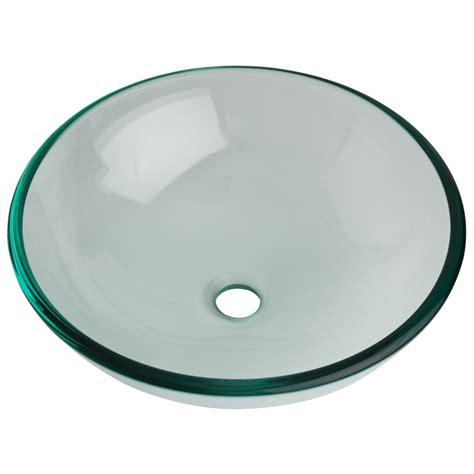 vasque ronde 224 poser en verre d 233 poli diam 232 tre 290 mm