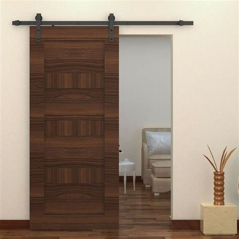 Closet Door Sliding Track by Homcom 6ft Interior Sliding Wood Barn Door Track Kit