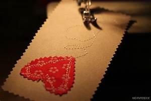 Stoff Auf Stoff Nähen : diy valentinstagskarten stoff auf karton n hen selbermachen ~ Lizthompson.info Haus und Dekorationen