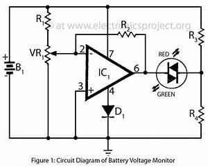Circuit Diagram Of Battery Voltage Monitor
