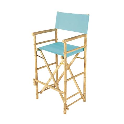 chaise bambou chaise de bar de jardin en tissu et bambou bleu turquoise