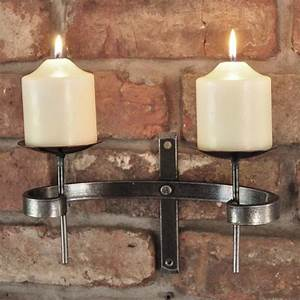 wrought iron candle wall sconce blacksmith wall sconce With kitchen cabinets lowes with hand forged candle holders