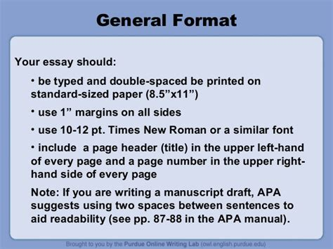 What Is The Best Format Font And Paper For A Resume by Apa Style Presentation