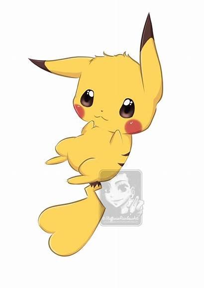 Pikachu Kawaii Clipart Deviantart Anime Transparent Drawings