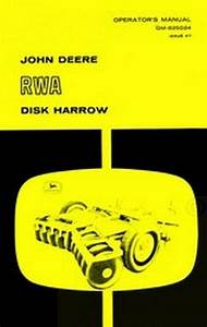 John Deere Rwa Disk Harrow Operators Manual Jd