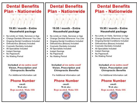 dental flyer word